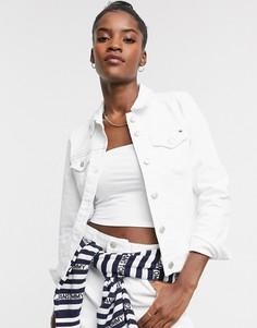 Классическая белая джинсовая куртка Tommy Hilfiger-Белый