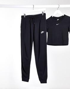 Черные джоггеры классического кроя Nike Essentials-Черный