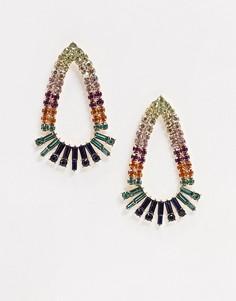 Серьги-подвески с камнями ALDO-Мульти