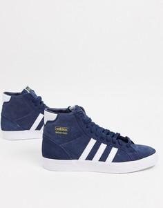Темно-синие замшевые кроссовки adidas Originals basket profi-Темно-синий