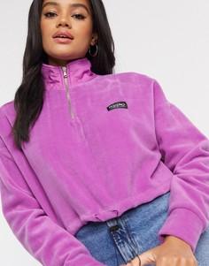 Фиолетовая короткая флисовая куртка Mossimo-Темно-синий
