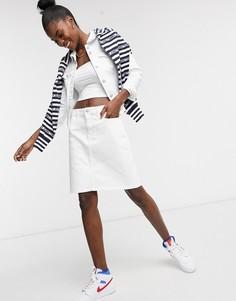 Белая джинсовая мини-юбка Tommy Hilfiger-Белый