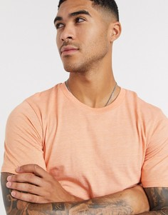 Оранжевая меланжевая футболка с круглым вырезом Selected Homme-Оранжевый
