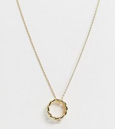 Позолоченное ожерелье с подвеской-кольцомOrelia-Золотой