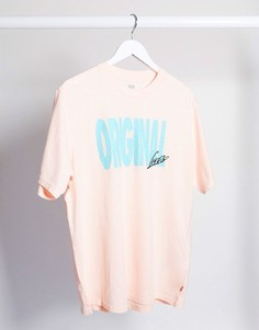 Розовая oversized-футболка в стиле 90-х с логотипом Levis-Розовый