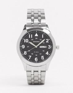 Серебристые наручные часы с черным циферблатом Sekonda-Серебряный