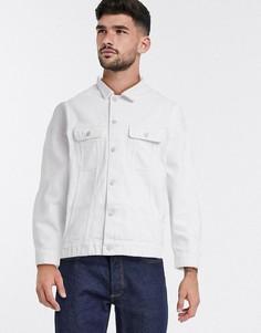 Белая джинсовая oversize-куртка ASOS DESIGN-Белый