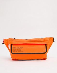 Оранжевая сумка-кошелек на пояс с логотипом Levis-Оранжевый