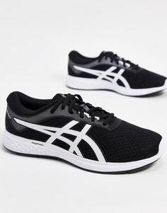 Черно-белые кроссовки Asics Running Patriot 11-Темно-синий