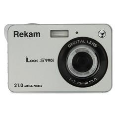 Цифровые фотоаппараты Цифровой фотоаппарат REKAM iLook S990i, серебристый