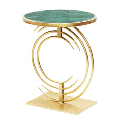 Столик кофейный Glasar с зеленым мрамором 40х40х51см ГЛАСАР