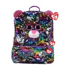 Рюкзак TY прямоугольный Дотти леопард с пайетками