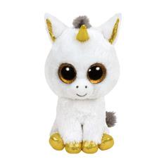 Мягкая игрушка TY Beanie Boos Белый единорог Pegasus 25 см