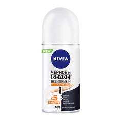 Дезодорант шариковый для женщин Nivea Черное и белое Невидимый Extra 50 мл