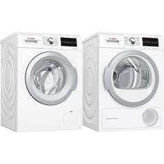 Комплект стиральной и сушильной машины Bosch WAT28461OE + WTW85469OE