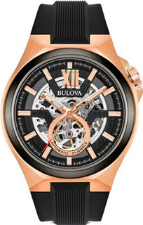 Японские наручные мужские часы Bulova 98A177. Коллекция Maquina