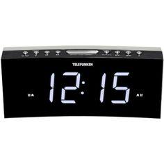 Радио-часы Telefunken TF-1569U Black/White