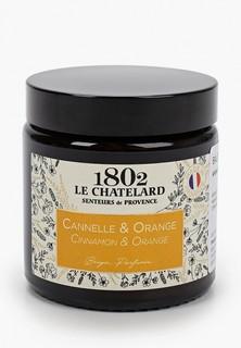 Свеча ароматическая Le Chatelard 1802 Корица - Апельсин, 80 гр.