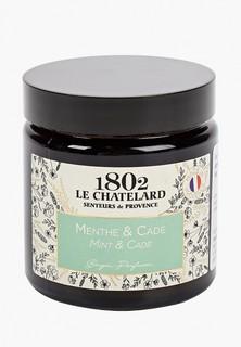 Свеча ароматическая Le Chatelard 1802 Мята - Можжевельник, 80 г.