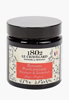 Свеча ароматическая Le Chatelard 1802 Розмарин - Грейпфрут, 80 гр.