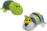 Мягкая игрушка 1toy Вывернушка: Радужный тигр-Черепаха, 12 см (Т12330)