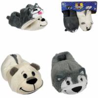 Мягкая игрушка 1toy Вывертапки: Хаски-Полярный медведь M р.28-30 (Т14154)