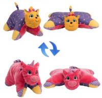 Мягкая игрушка 1toy Подушка Вывернушка: Лавандовый единорог-Щенок Йорк (Т12045)