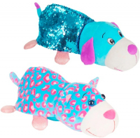 Мягкая игрушка 1toy Вывернушка Блеск: Котик-Щенок, 30 см (Т15589)