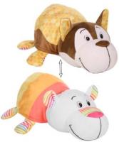 Мягкая игрушка 1toy Вывернушка Ням-Ням: Хаски-Полярный мишка, 40 см (Т13919)