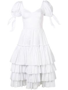 Dolce & Gabbana поплиновое платье с оборками