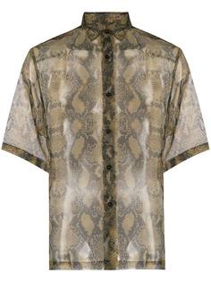 Cmmn Swdn рубашка со змеиным принтом