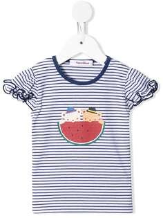 Familiar футболка в полоску с принтом