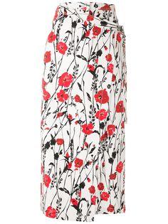 Reinaldo Lourenço юбка с запахом и цветочным принтом