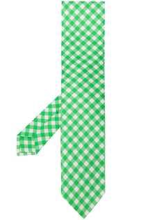 Kiton галстук в клетку гингем