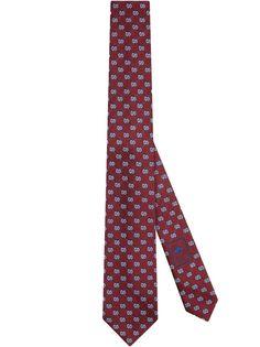 Gucci жаккардовый галстук с узором GG
