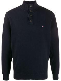 Tommy Hilfiger пуловер с высоким воротником и логотипом