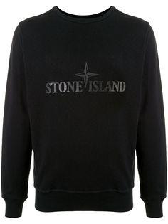 Stone Island толстовка с круглым вырезом и логотипом
