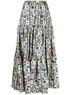 La Doublej юбка Big с цветочным принтом