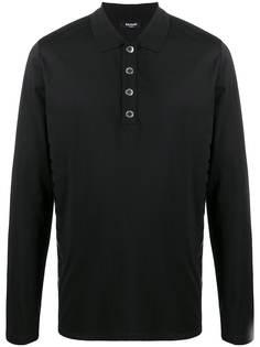 Balmain рубашка поло с длинными рукавами