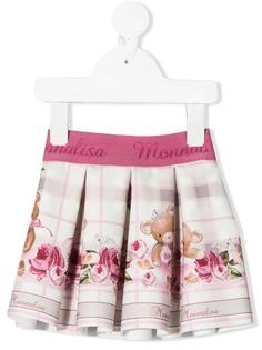 Monnalisa юбка с принтом и складами