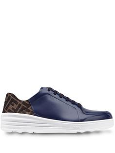 Fendi кроссовки на шнуровке с логотипом FF