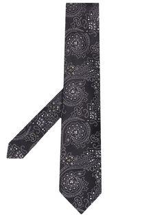 Etro галстук с узором пейсли