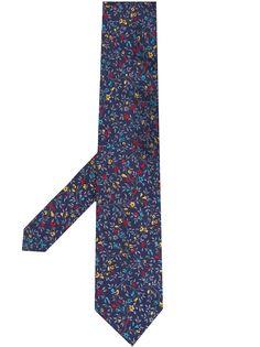 Etro галстук с цветочным узором
