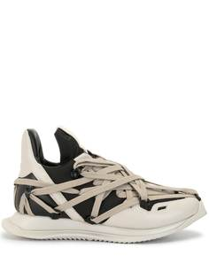 Rick Owens двухцветные кроссовки на шнуровке