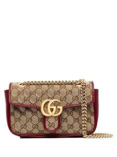 Gucci мини-сумка на плечо с логотипом GG Marmont