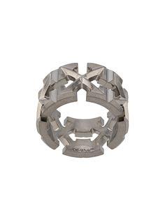 Off-White кольцо с логотипом