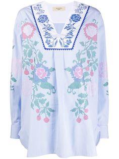 Max Mara блузка с вышивкой