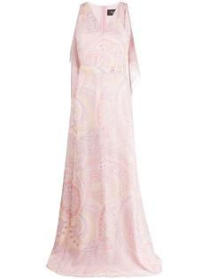 Max Mara длинное платье с принтом