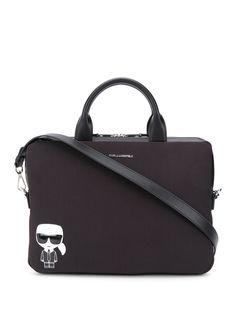 Karl Lagerfeld сумка для ноутбука с металлическим логотипом