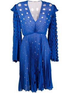 Marco De Vincenzo плиссированное платье миди с резным узором